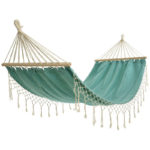 Aqua Hammock with Fringe