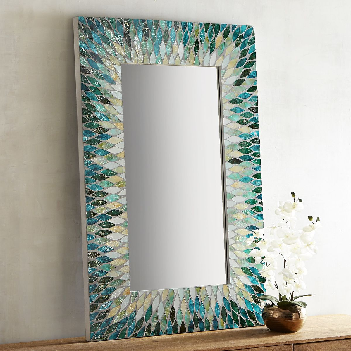 Cascade Mosaic Mirror Everything Turquoise