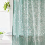 Cece Lace Teal Shower Curtain