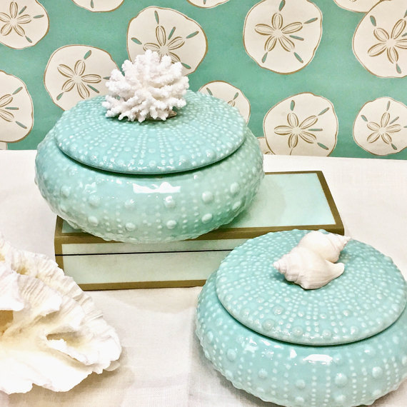 Ceramic 'Sea Urchin' Boxes