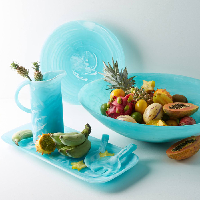 Nashi Home Aqua Swirl Serving Collection