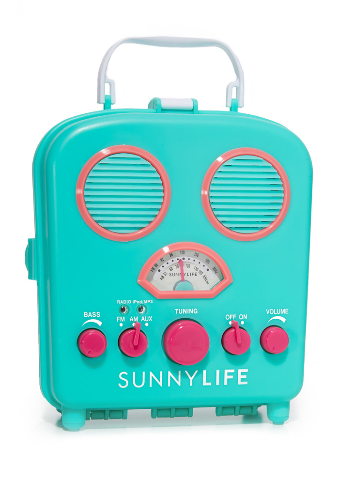 SunnyLife Turquoise Beach Sounds Speaker & Radio