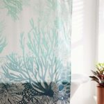 Turquoise Ombre Coral Reef Shower Curtain