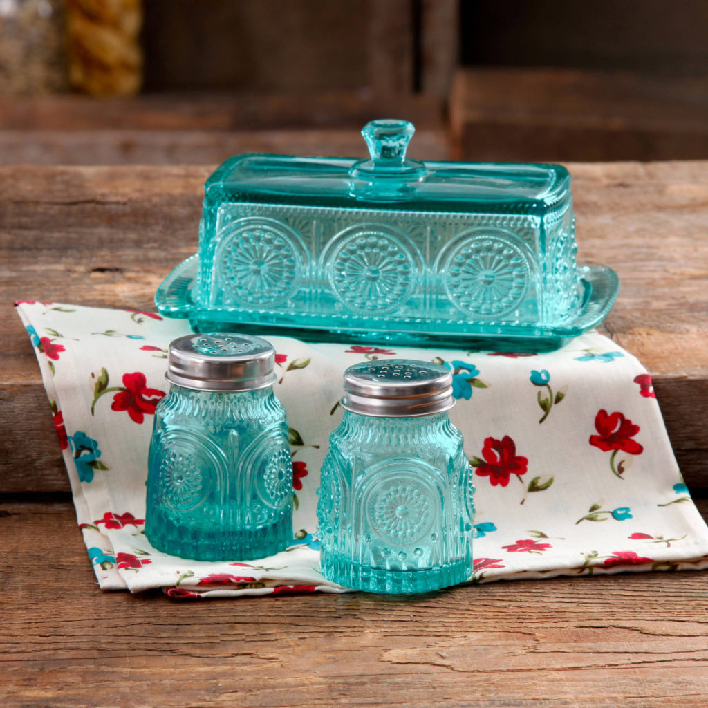 Adeline Butter Dish with Salt & Pepper Shaker Set
