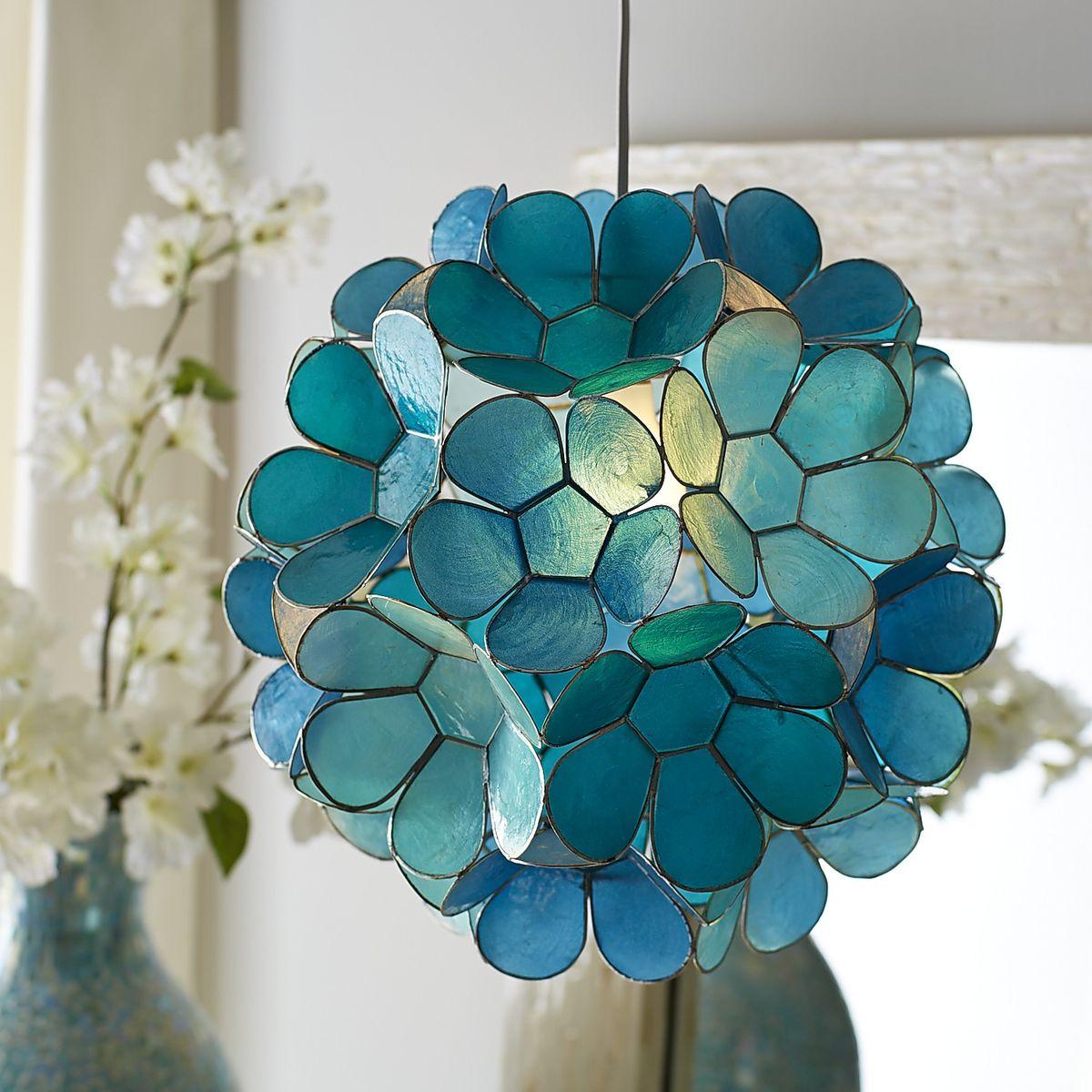 Everything Turquoise: Daisy Capiz Pendant Light