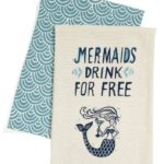 Mermaids Drink For Free Set of 2 Dish Towels