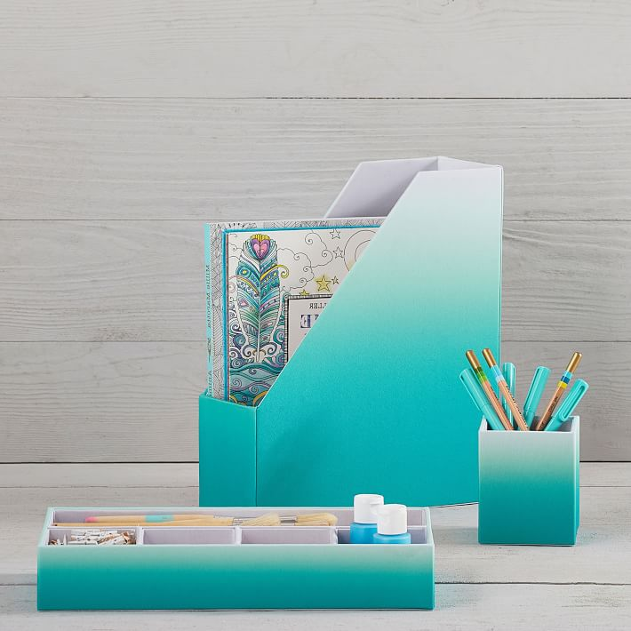 Pool Ombre Fabric Desk Accessories