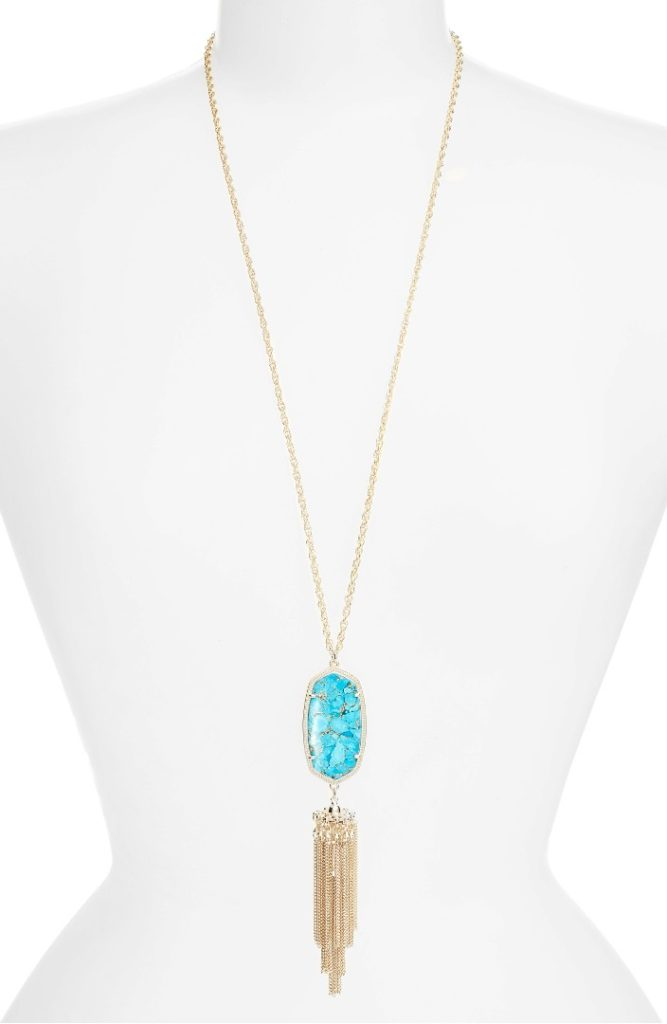 Rayne Stone Tassel Pendant Necklace