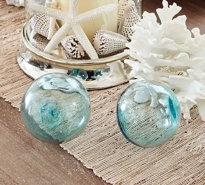 Recycled Glass Balls - Set of 3