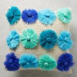 Textured Blooms Pillow