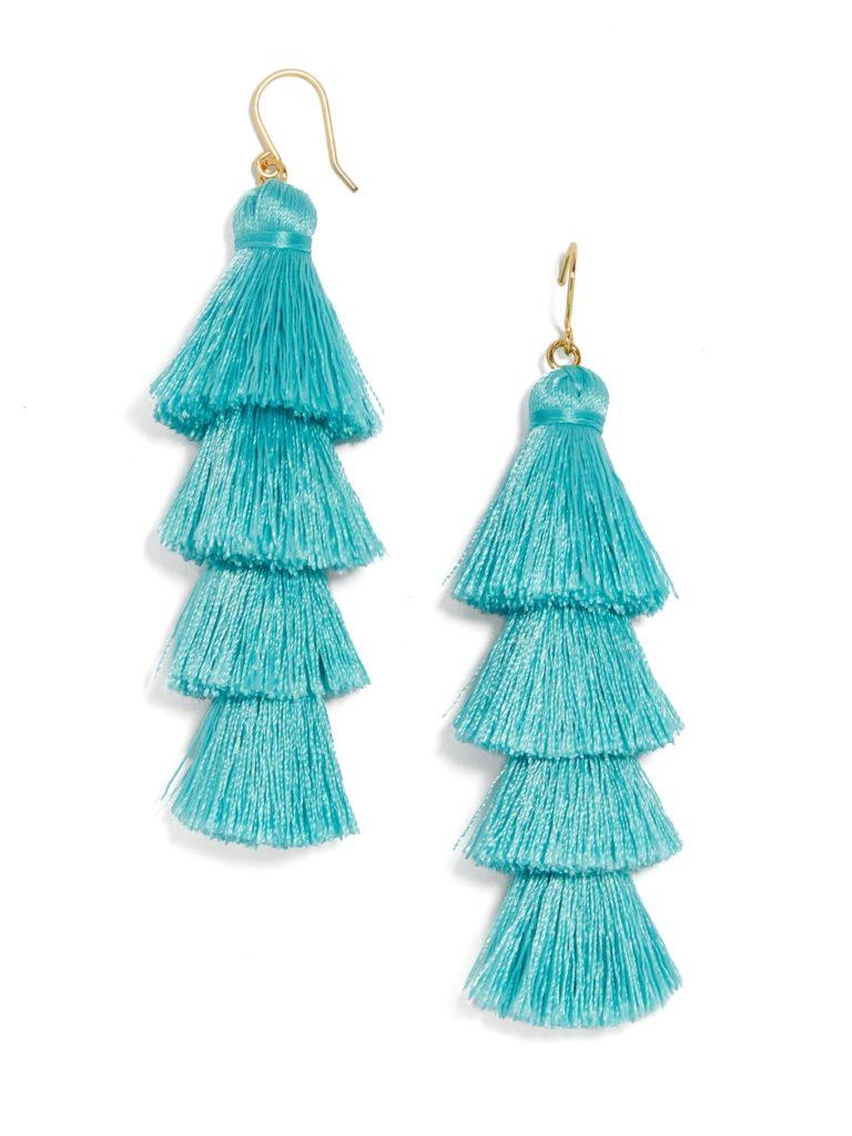 Turquoise Gabriela Fringe Drops