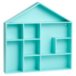 Turquoise House-Shaped Shelf