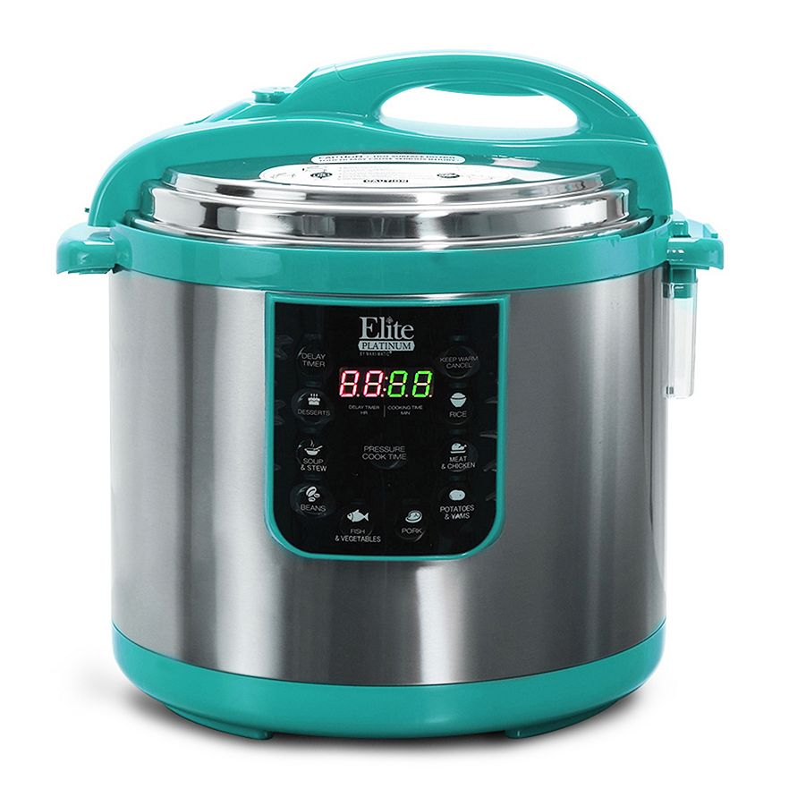 Turquoise Stainless Steel Digital Pressure Cooker