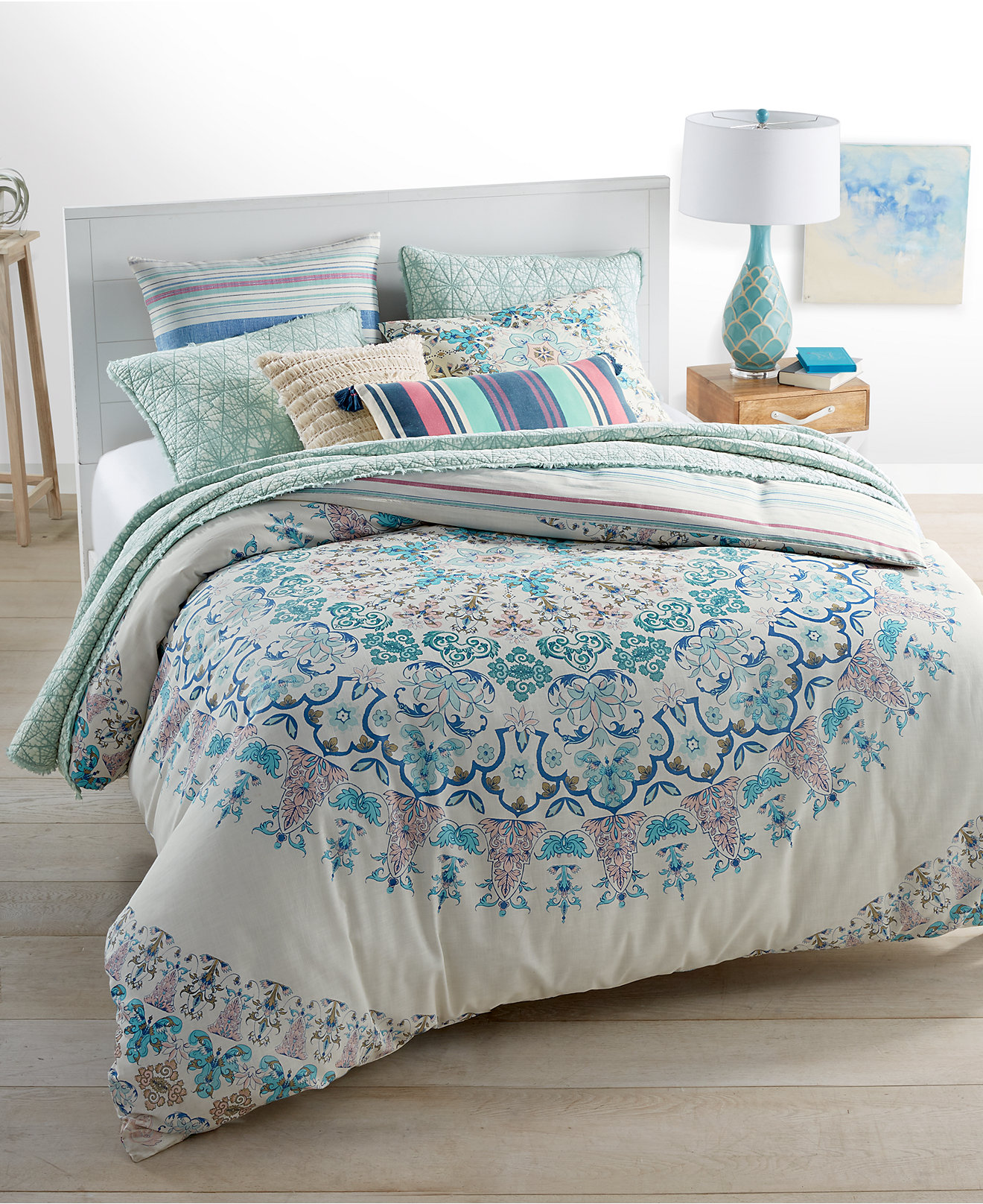 Full Moon Reversible Bedding Collection Everything Turquoise