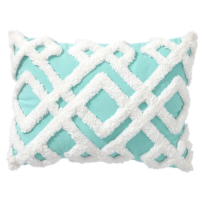 Aqua Geo Plush Pillows