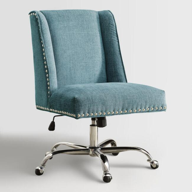 Aqua Heathman Upholstered Office Chair