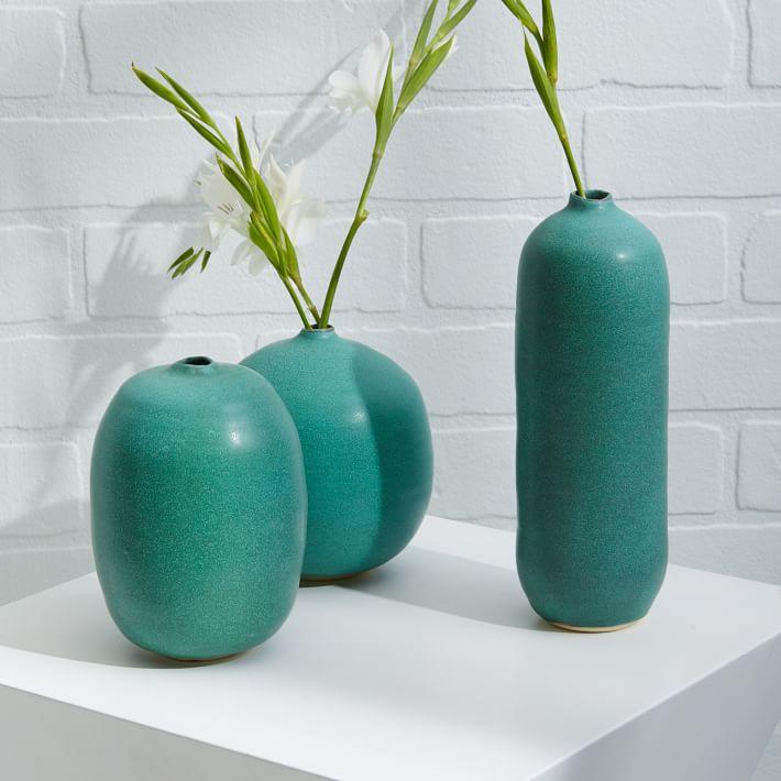 Judy Jackson Turquoise Stoneware Vases