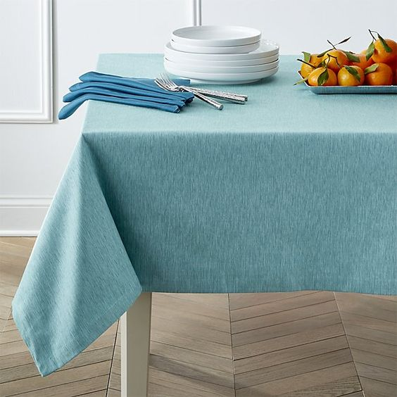 Linden Aqua Tablecloth