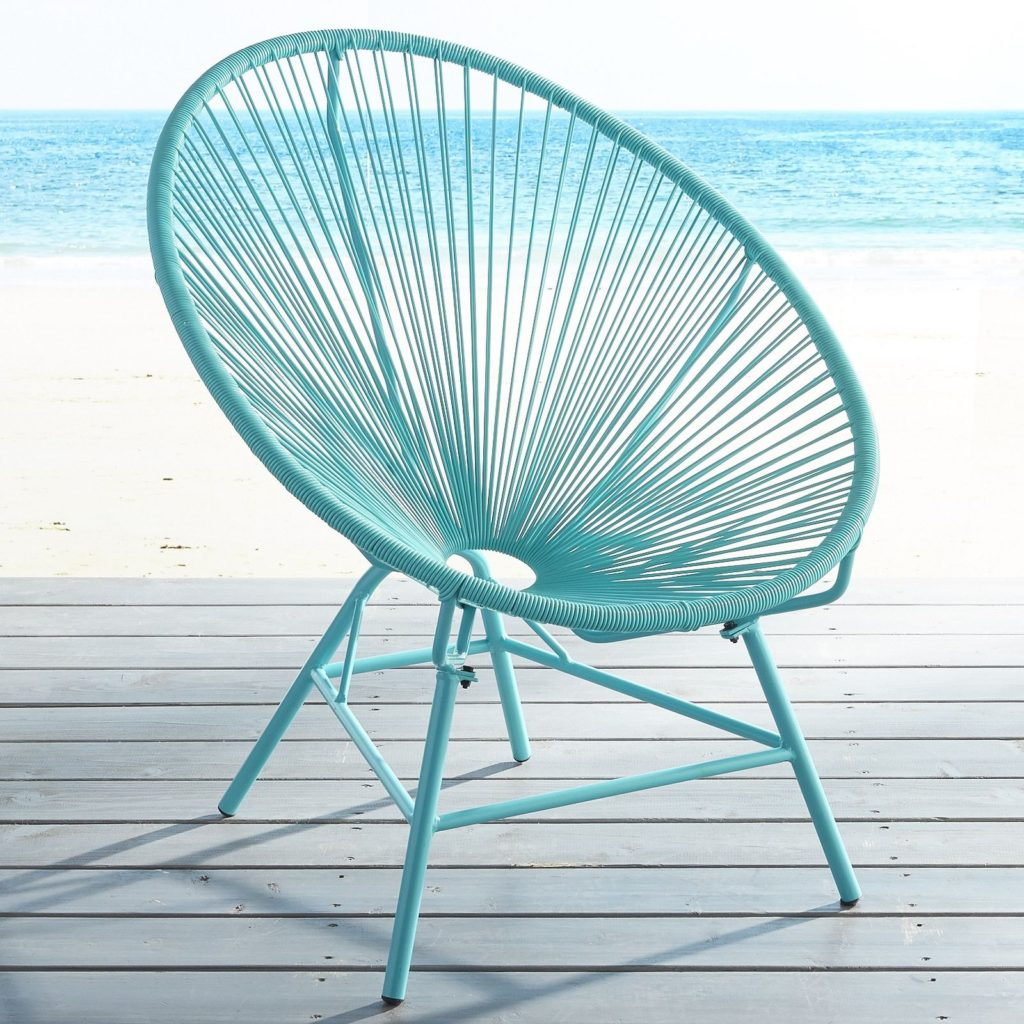 Luca Oval Turquoise Chair