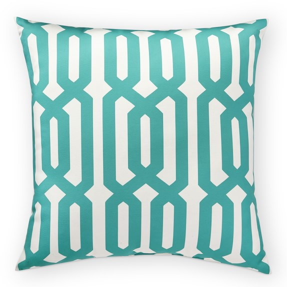 Outdoor Printed Graphic Links Pillow