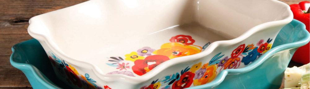 Ruffle Top Ceramic Bakeware Set