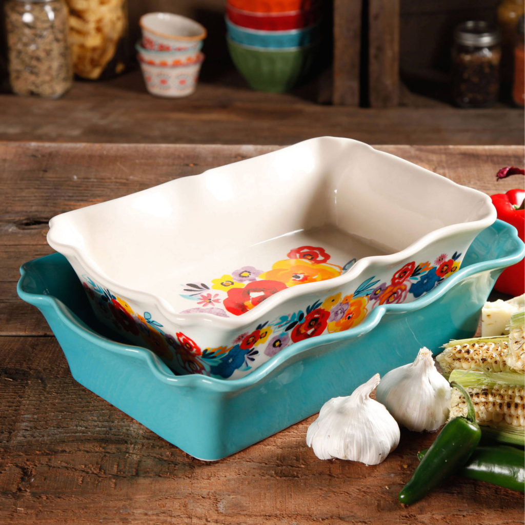 Ruffle Top Ceramic Bakeware Set