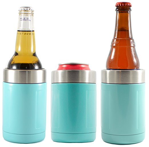 Turquoise Can & Bottle Insulator