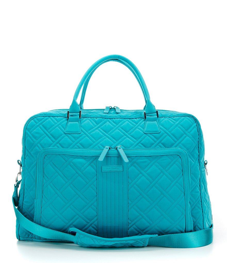 Turquoise Vera Bradley Quilted Weekender Travel Bag