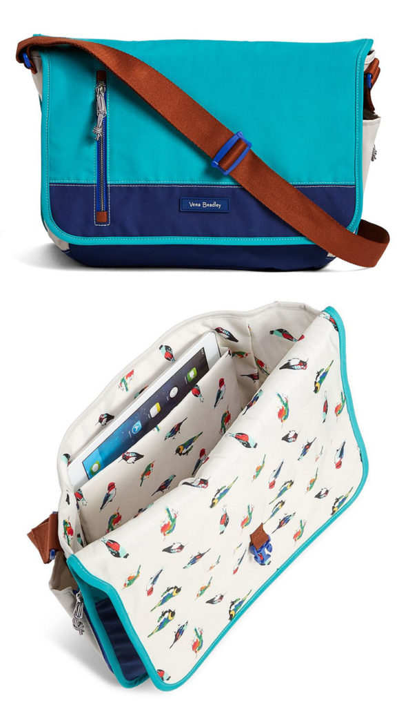 From Vera Bradley The Lightweight Lighten Up Laptop Messenger Bag Features A Water Repellent Exterior And Buckle Closure Lined Interior Will Keep You