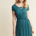 A Whole New Whorl Jersey Dress in Ocean