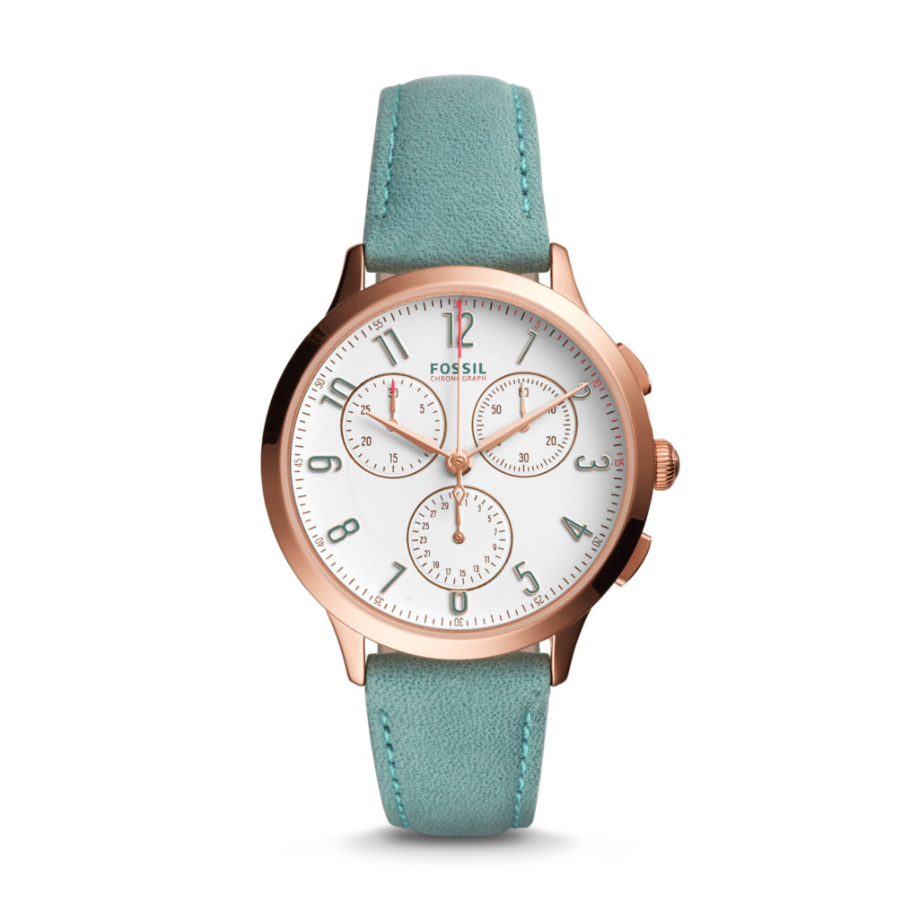 Fossil Abilene Chronograph Teal Leather Watch