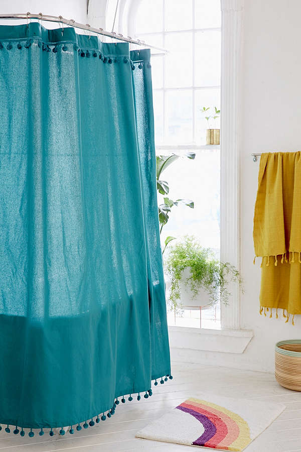 Pompom Shower Curtain