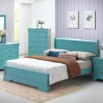 Teal Corbeil Panel Bed