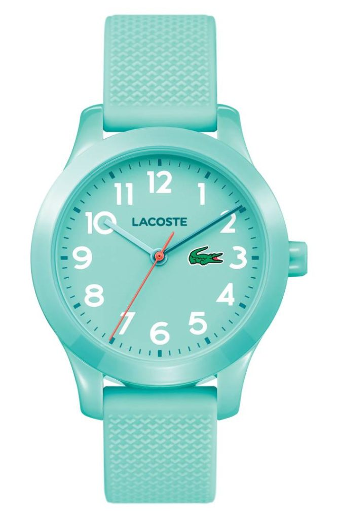 Lacoste 12.12 Turquoise Silicone Strap Watch
