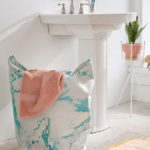 Marble Standing Laundry Bag Hamper