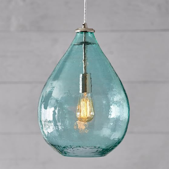 Oversized Light Pool Glass Waterdrop Pendant