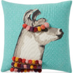 "Pretty Llama 18"" Square Decorative Pillow"
