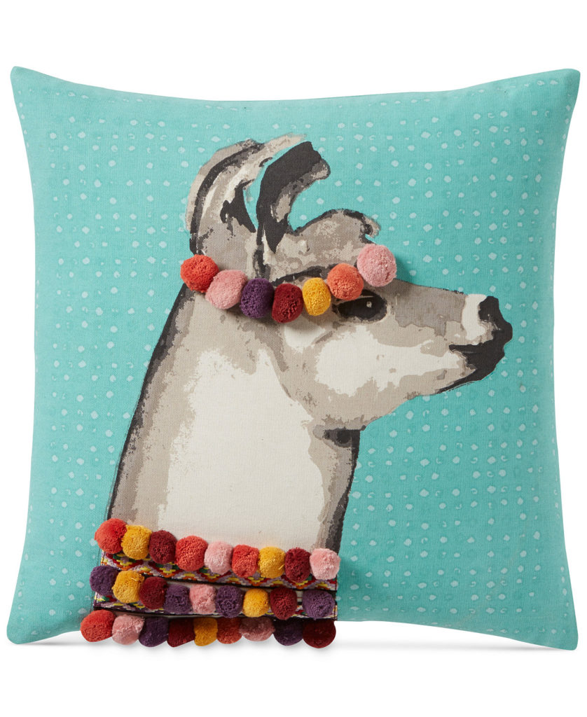Pretty Llama 18'' Square Decorative Pillow