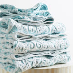Aqua Damask Towel Collection