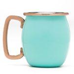 Turquoise Fiesta 4-Piece Moscow Mule Shot Mug Set
