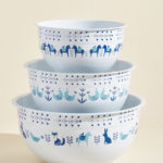 Kitschy Kitchen Enamel Mixing Bowl Set
