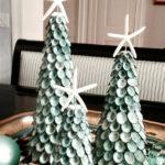 Natural Aqua Shells and Starfish Christmas Trees