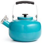 Teal Enamel on Steel Tea Kettle