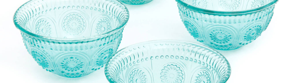 The Pioneer Woman Adeline Emboss Glass Bowls