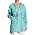 Free People Popling Lace Up Pullover