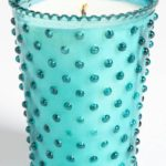 Hobnail Glass Candle