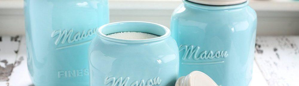 Daily Turquoise Shopping Blog. Mason Jar Kitchen Canister Set
