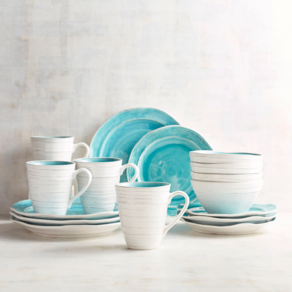 Midori Turquoise 16-Piece Dinnerware Set & Dinnerware | Everything Turquoise
