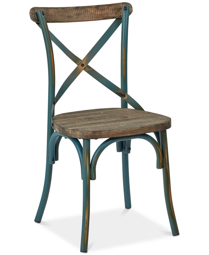 Turquoise Glenman X-Back Dining Chair