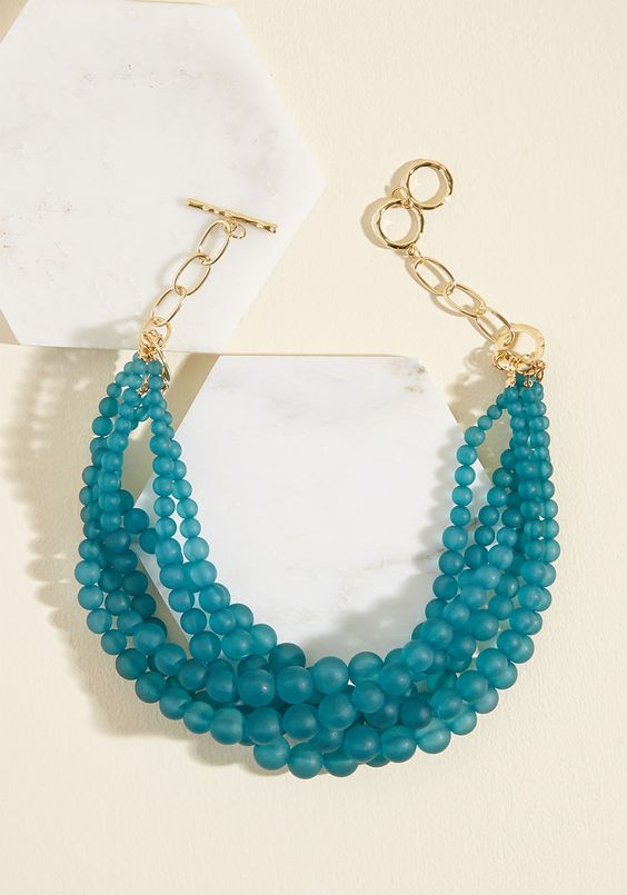 Burst Your Bauble Necklace in Matte Teal
